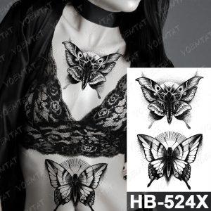 Vodeodolné dočasné tetovačky pre ženy HB-524X